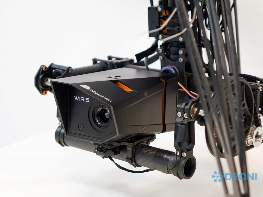 Workswell WIRIS 640 - konstrukce, připevnění na drona