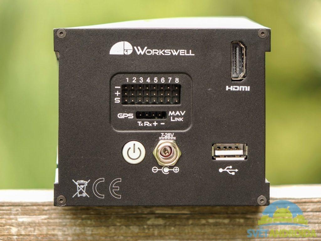 Workswell Wiris 640 - konstrukce, zadní strana