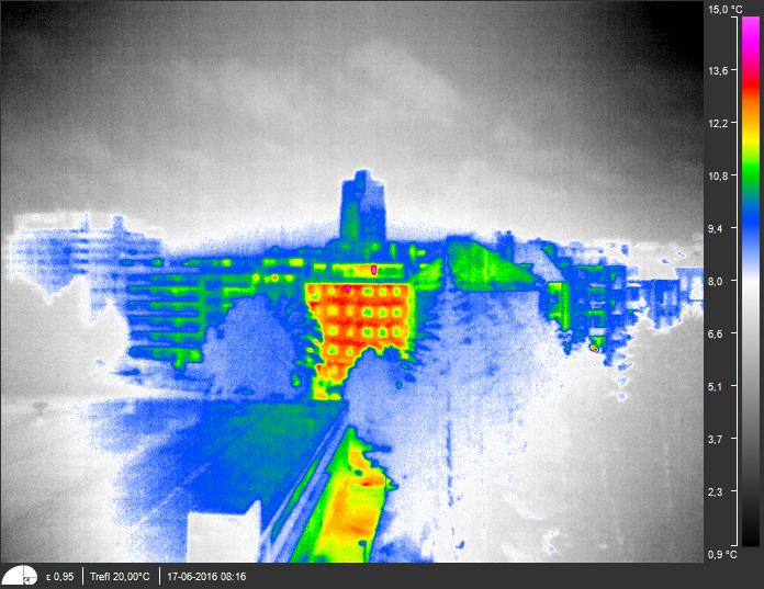 Workswell Wiris 640 - radiometrický snímek