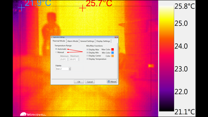 Workswell Thermal Vision Pro - nastavení (2)