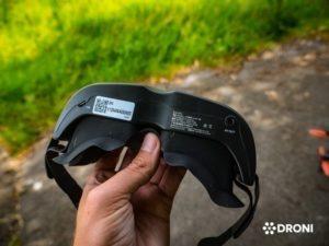 Ehang Ghostdrone 2.0 recenze fpv brýle spodní strana