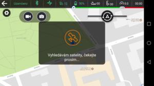 Ehang Ghostdrone aplikace vyhledávání gps satelitů