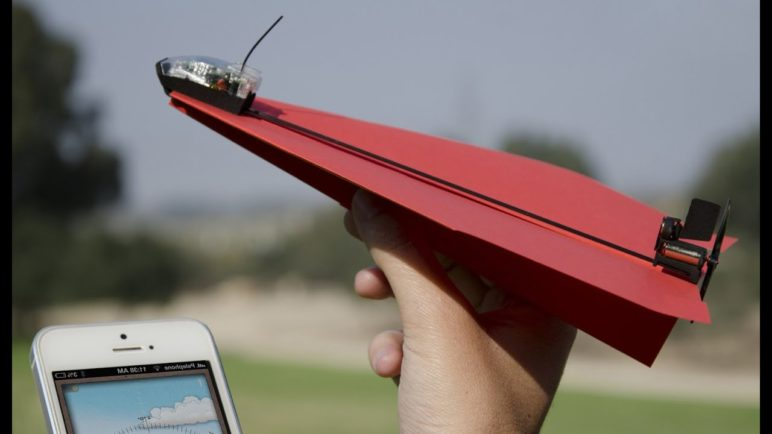 PowerUp 3.0- Smartphone Controlled Paper Planes